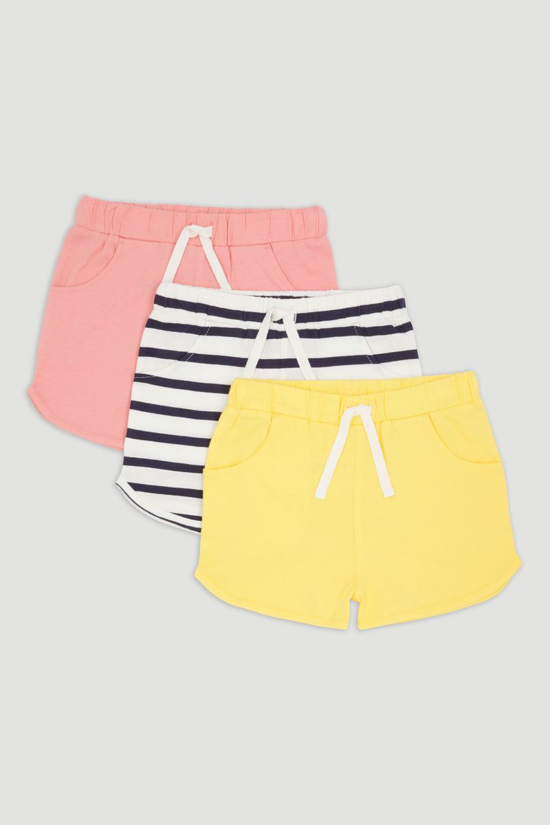 3 Pack Sporty Shorts