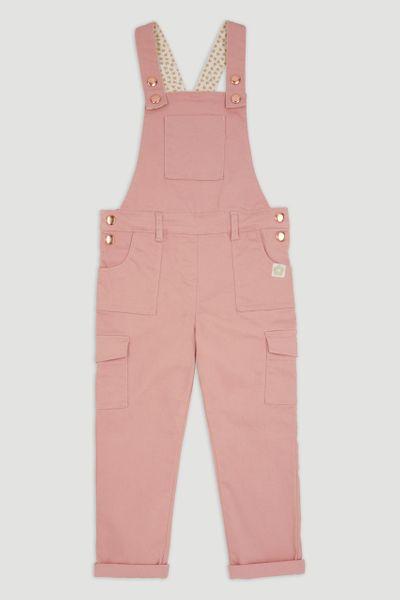 Pink Denim Dungarees