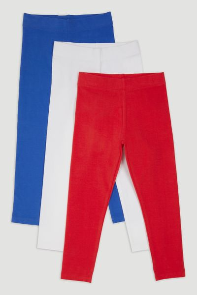 3 Pack Red Leggings