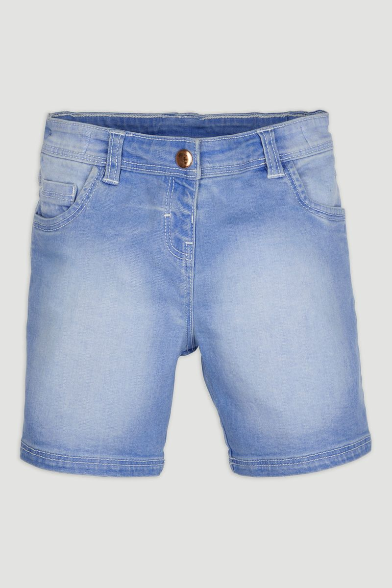 Light-wash Denim Shorts