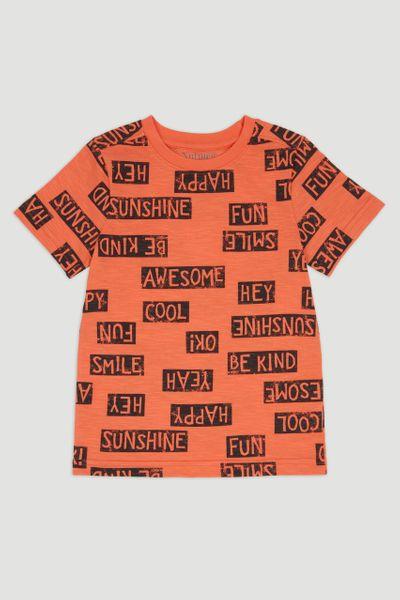 Coral Slogan T-Shirt