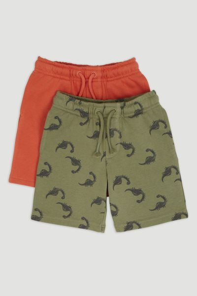 2 Pack Dinosaur Sweat Shorts