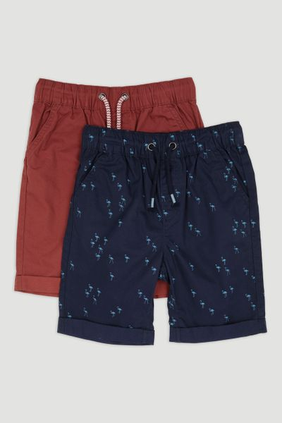 2 Pack Flamingo Chino Shorts 1-14yrs