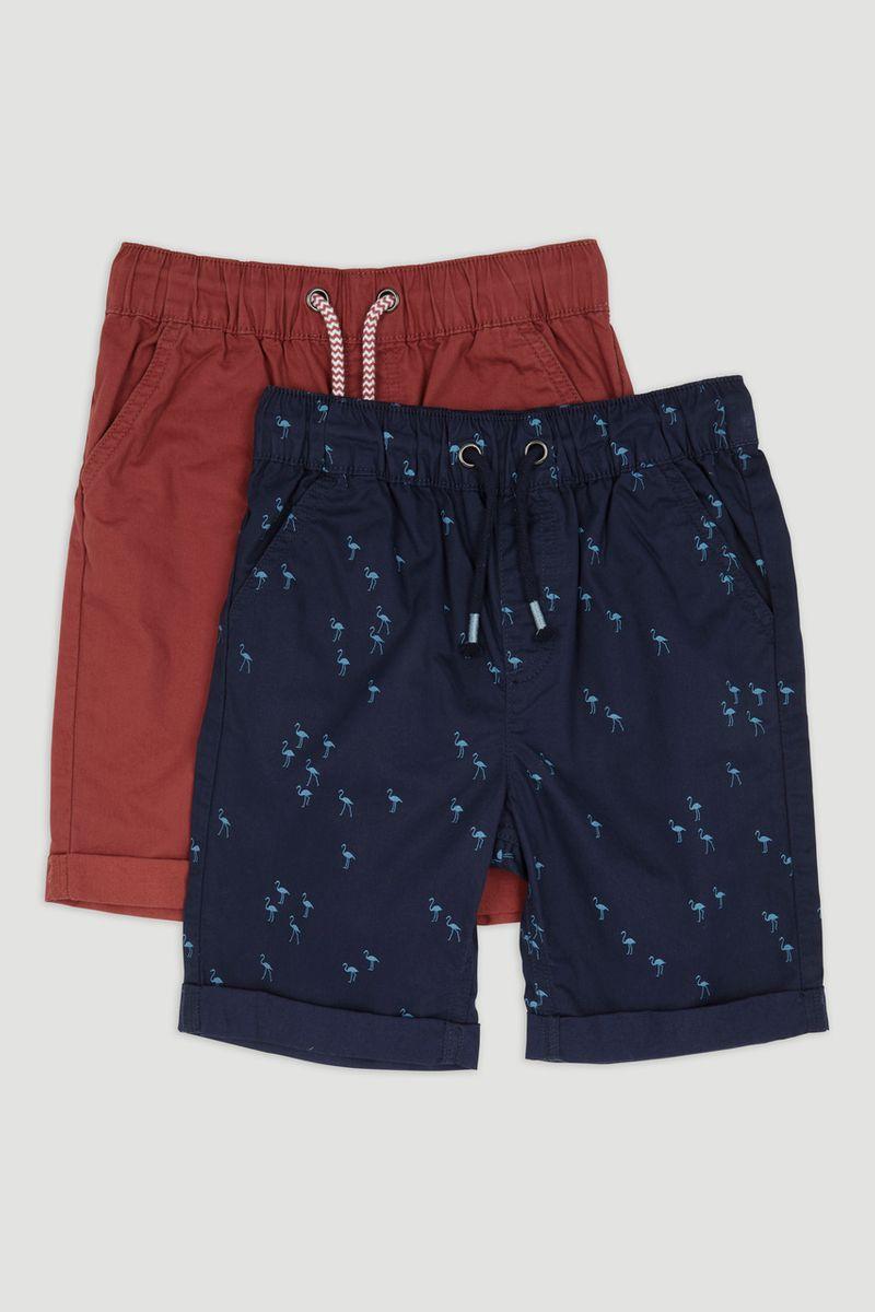 2 Pack Flamingo Chino Shorts 1-14yrs