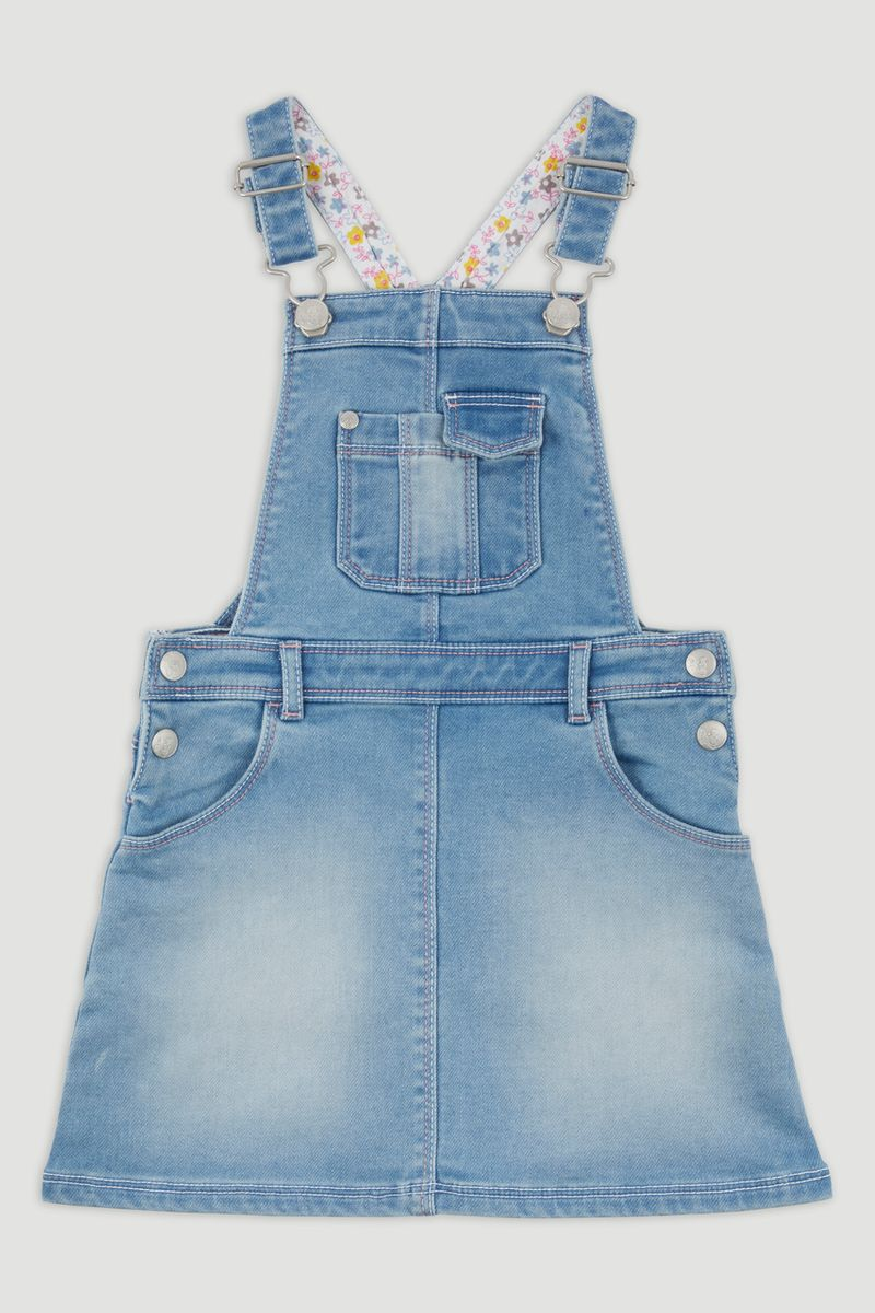 Denim Pocket Pinafore Dress