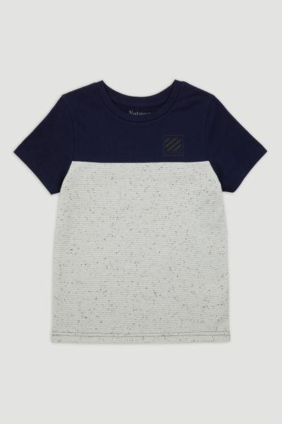Navy & White Jersey T-Shirt