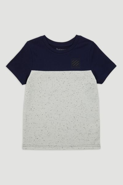 Navy & White T-Shirt