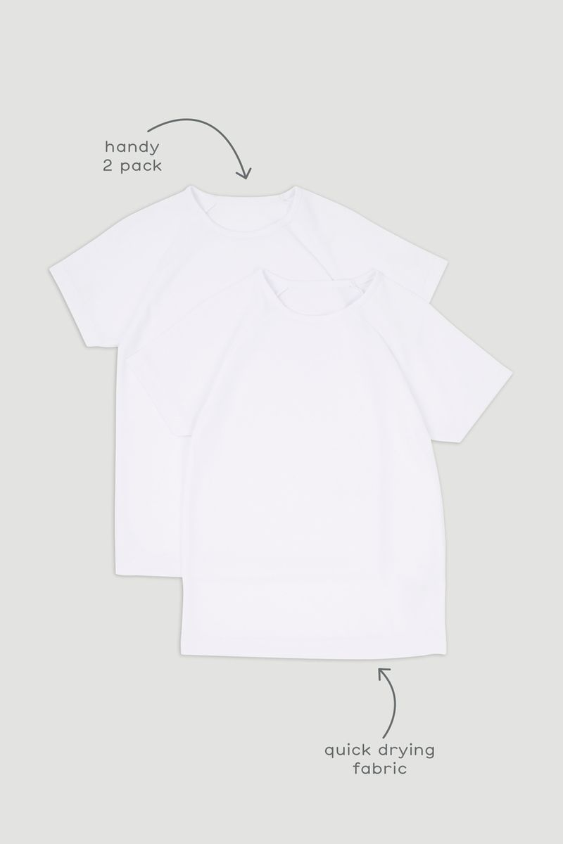 2 Pack White Football T-shirts