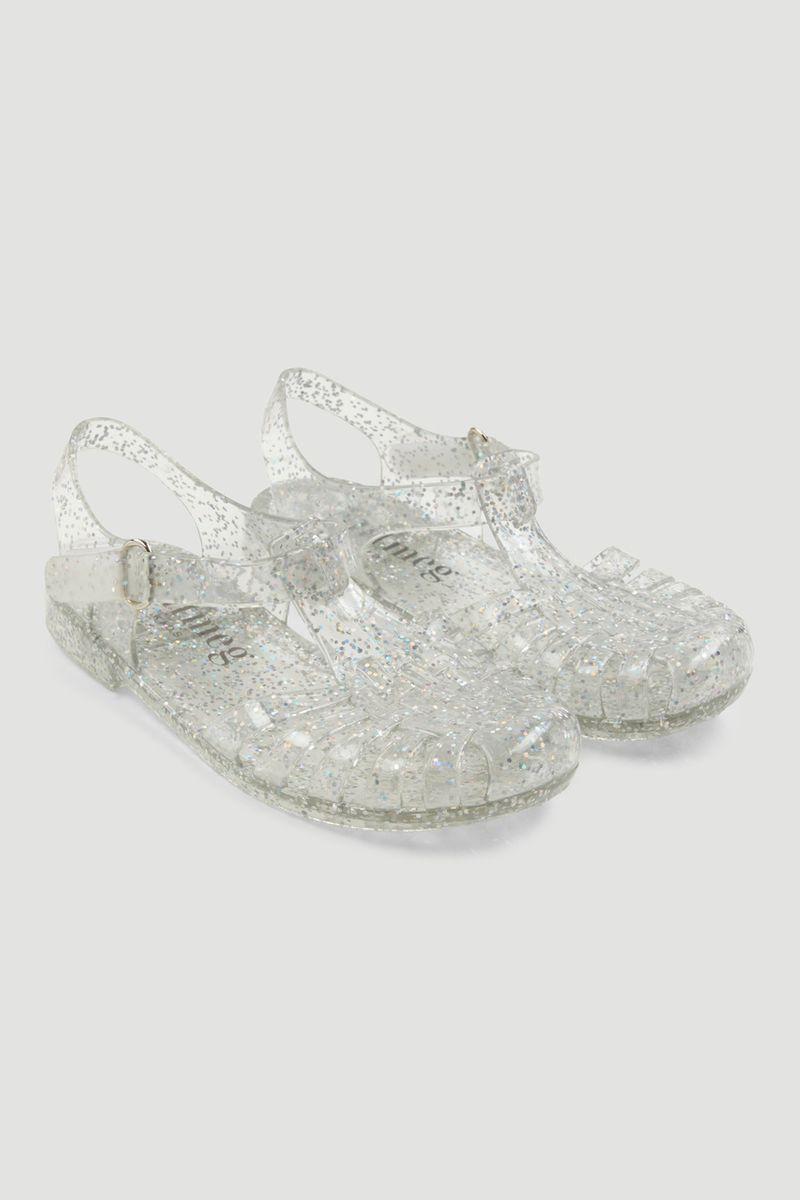 Iridescent Glitter Jelly Sandals