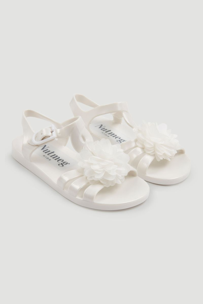 Corsage Jelly Sandals