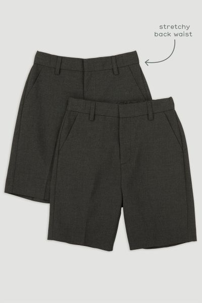 2 Pack Charcoal Shorts