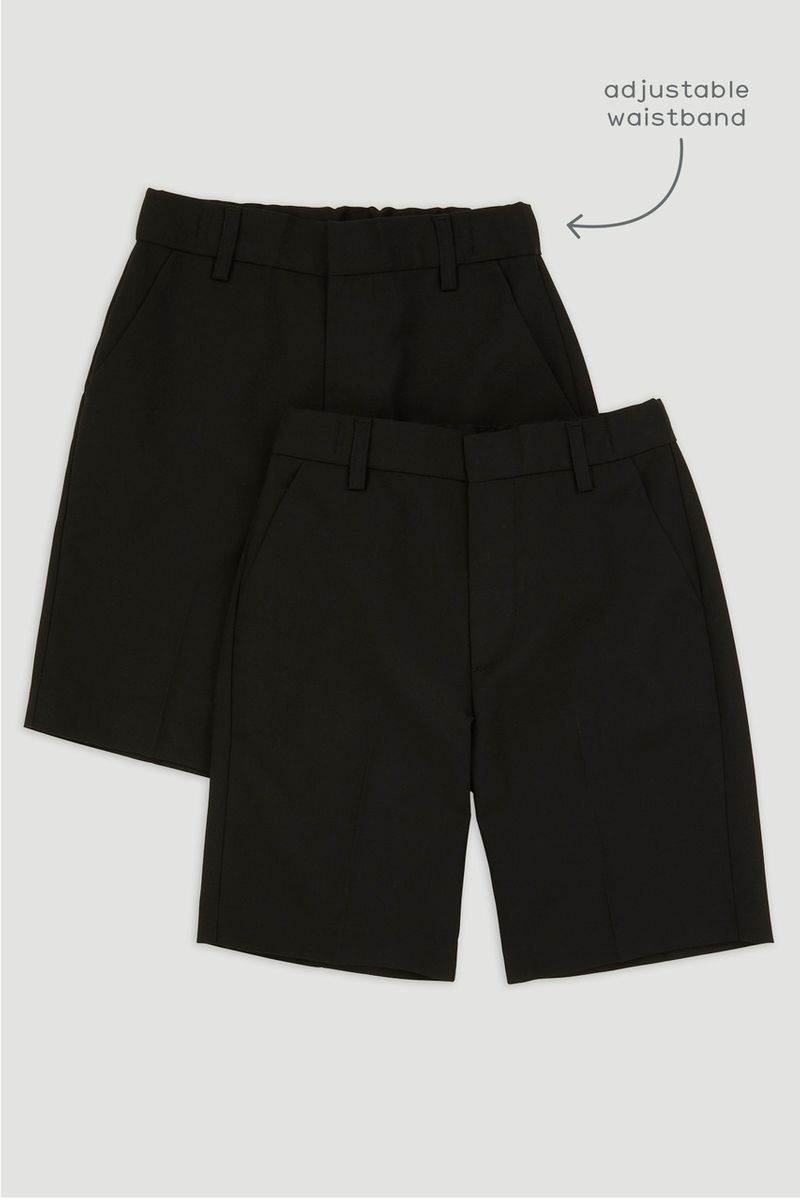 2 Pack Black Short