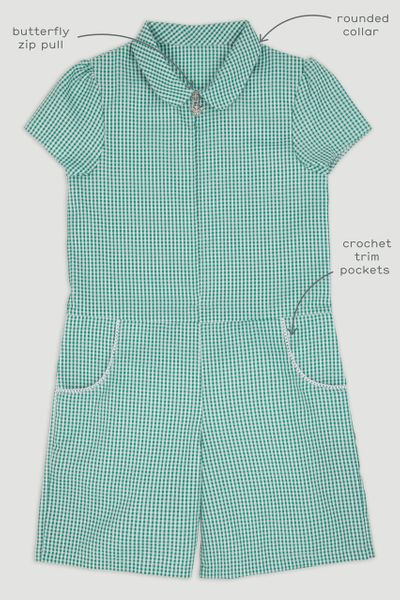 Green Gingham Playsuit