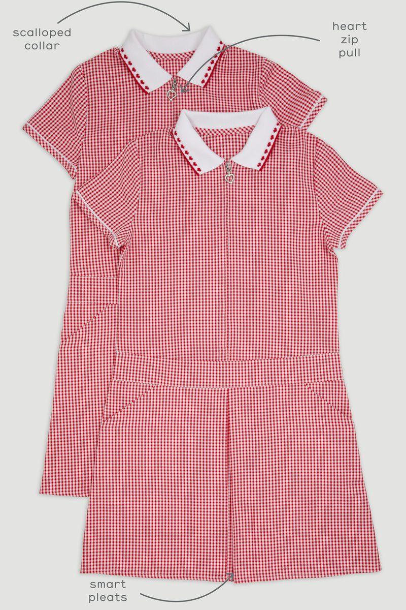 2 Pack Red Gingham Sporty Dresses