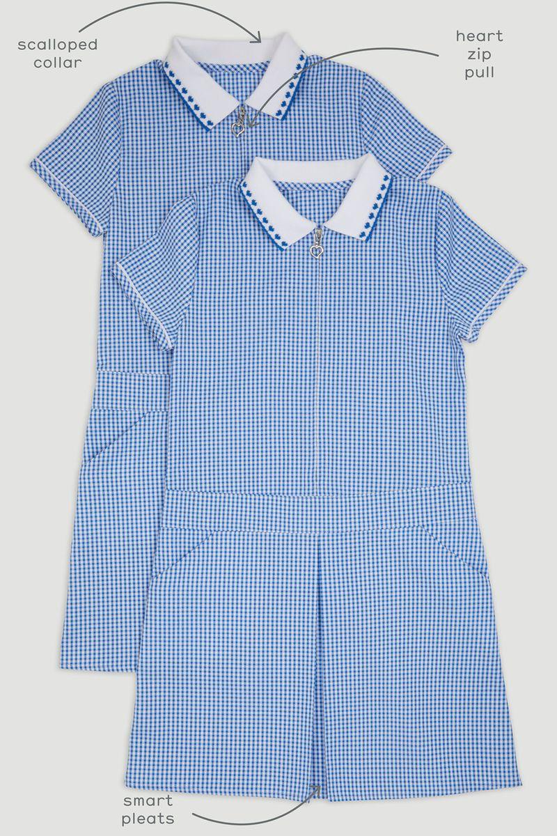 2 Pack Sporty Blue Gingham Dresses