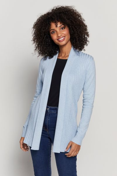 Blue Marl Edge to Edge Cardigan