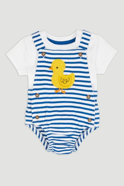 Duckling Stripe Romper Set