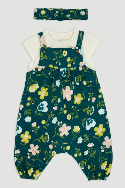 Flower Dungaree Set