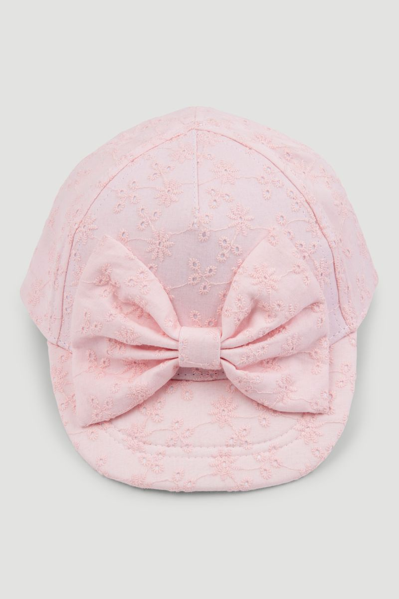 Pink Broderie Cap 3-10yrs