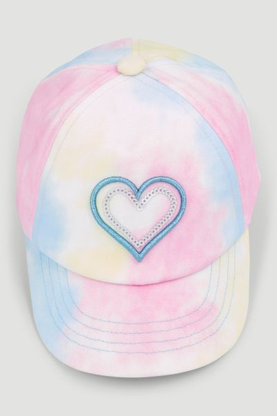 Tie Dye Heart Cap