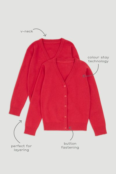 2 Pack Red Cardigans