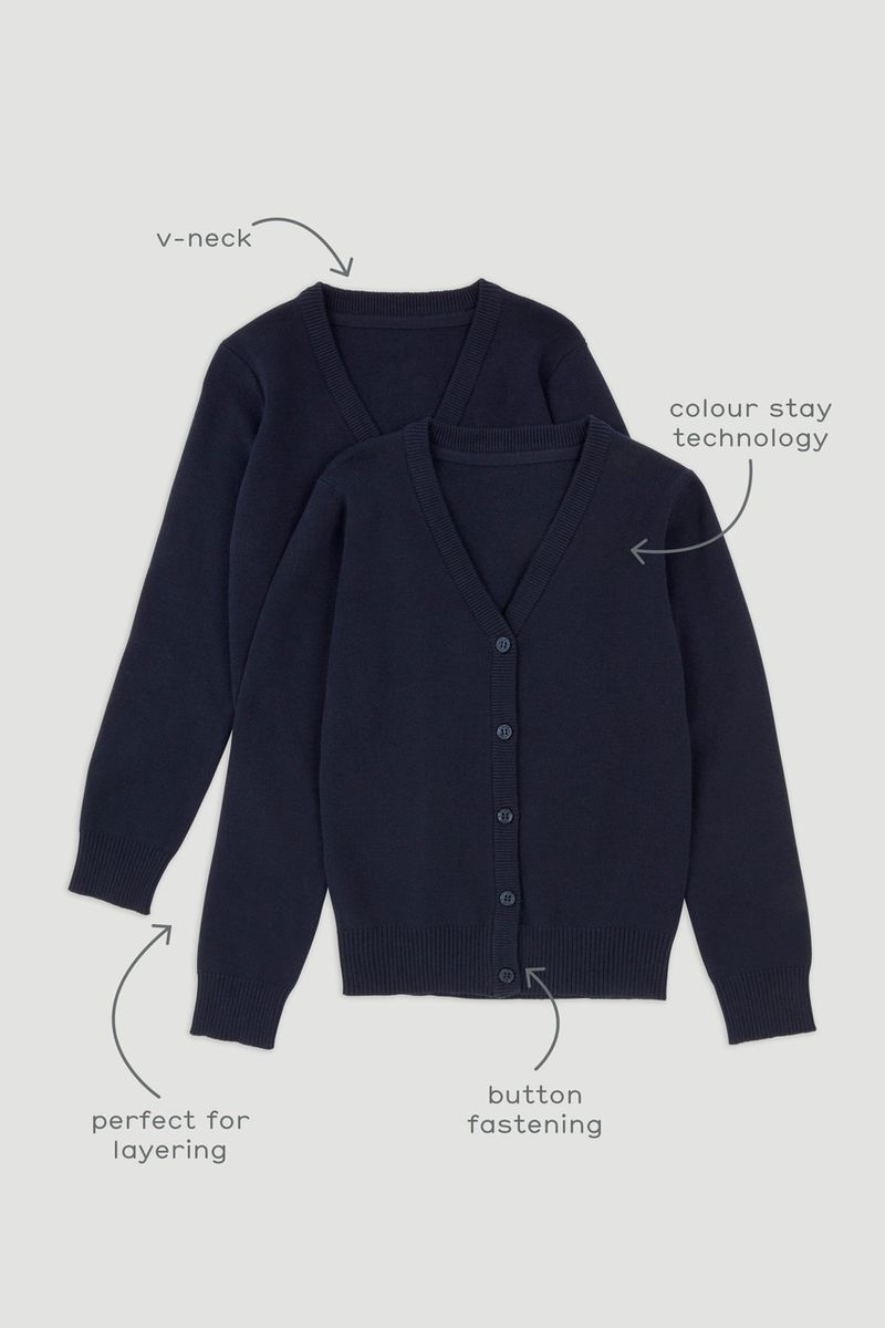 2 Pack Navy Cardigans