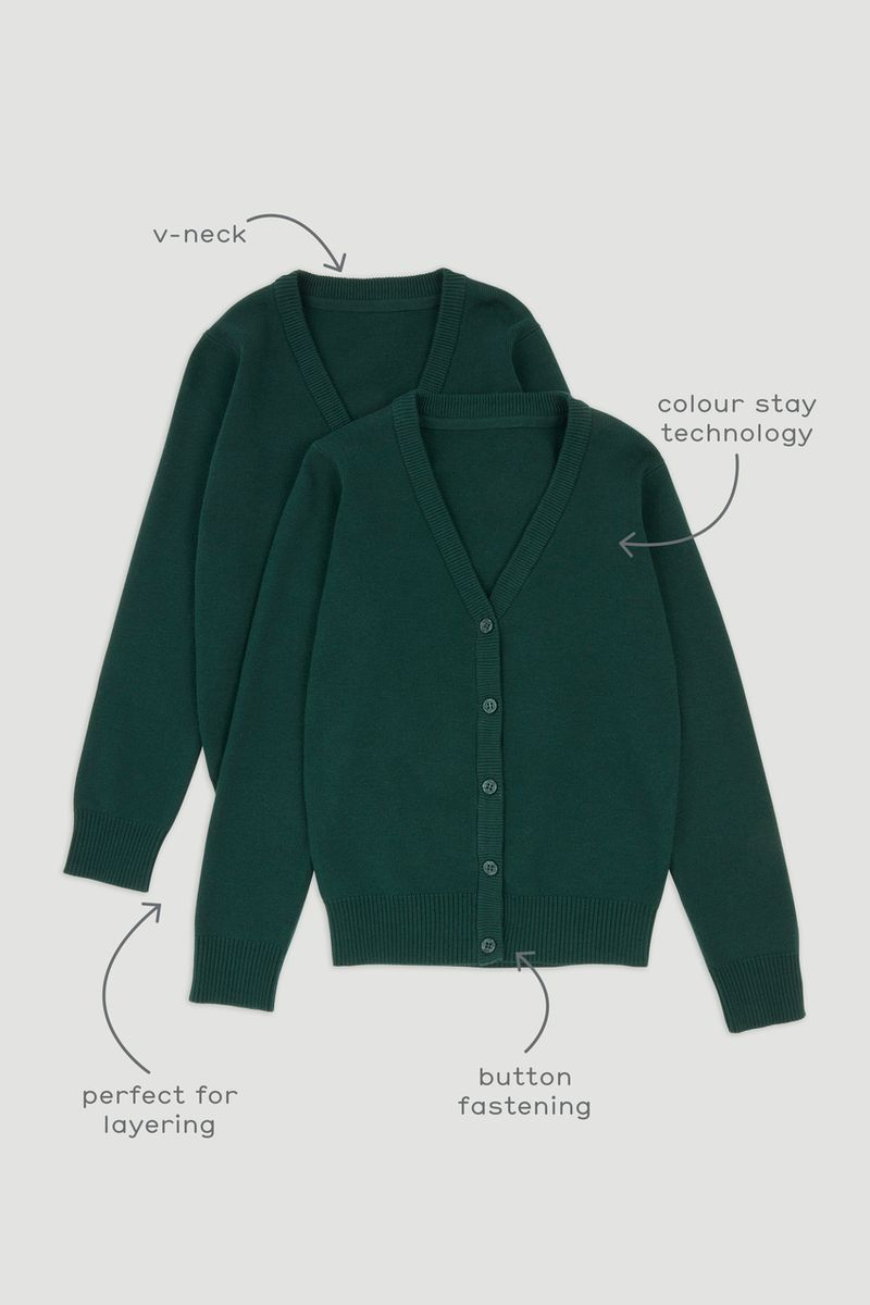 2 Pack Green Cardigans