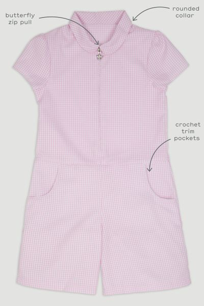 Pink Gingham Playsuit