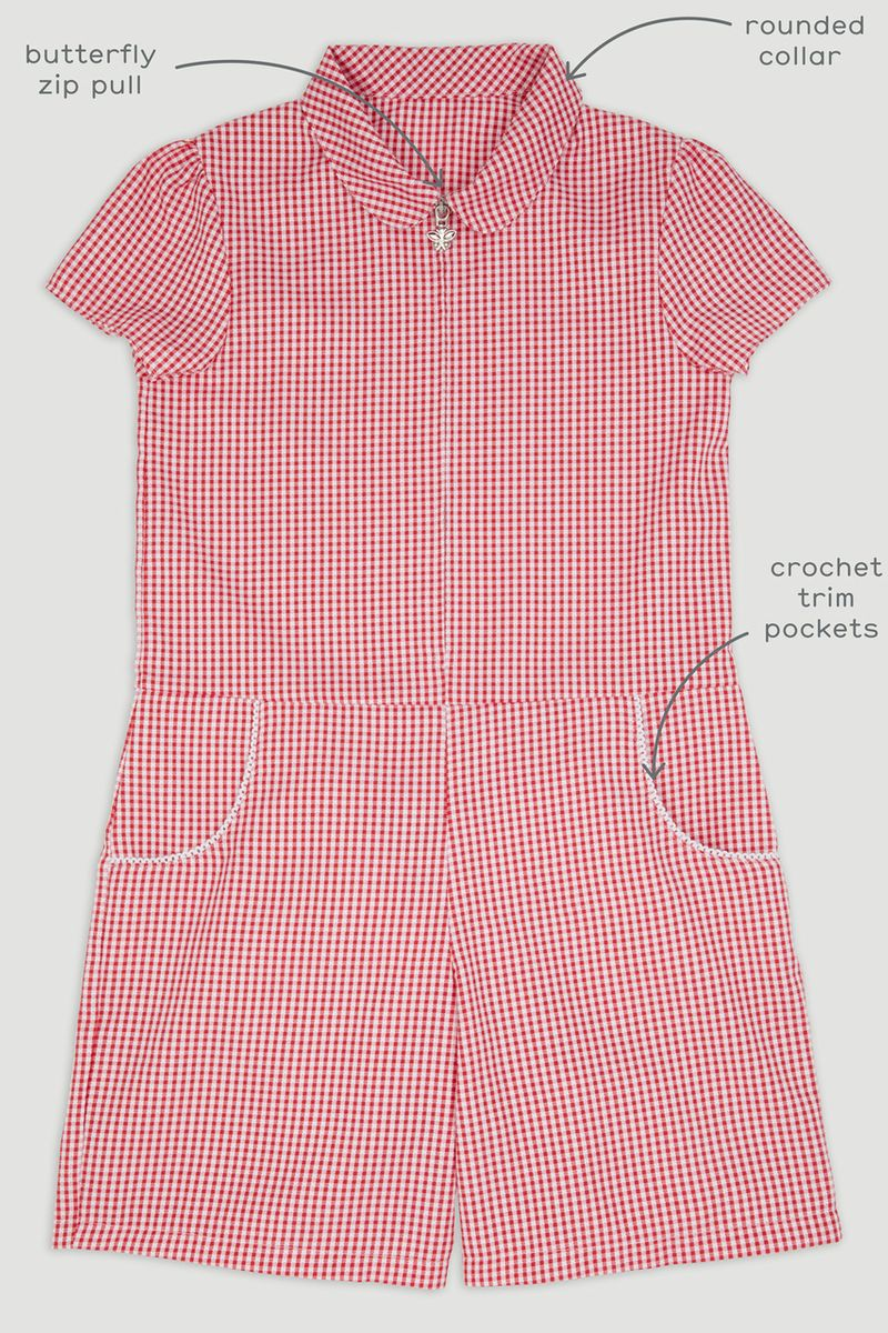 Red Gingham Playsuit