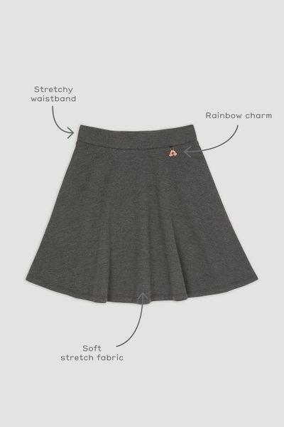 Charcoal Ponte Skater Skirt