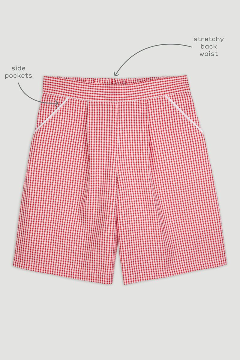 Red Gingham Culottes