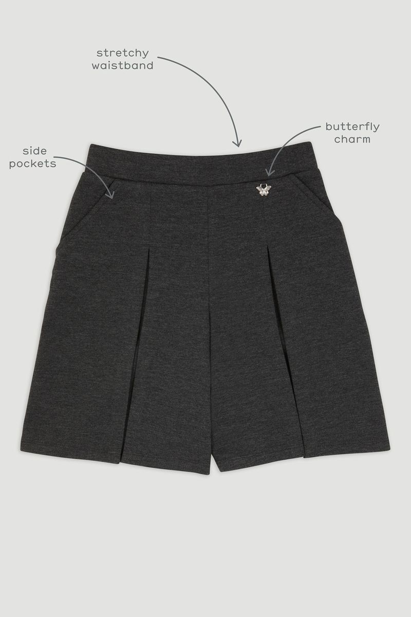 Charcoal Ponte Culottes
