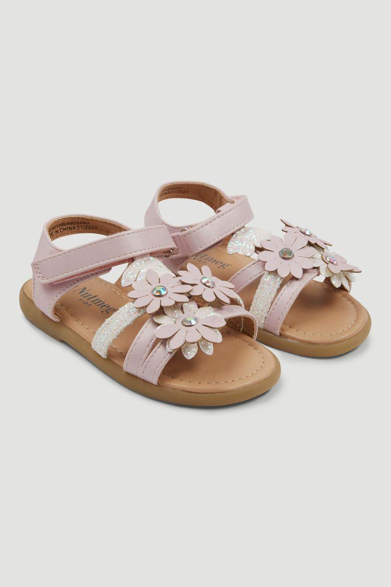 Pink Flower Sandals