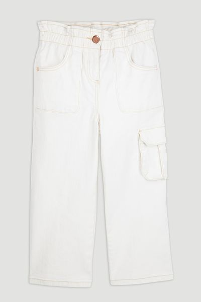 Ecru Denim Culottes 3 - 14yrs