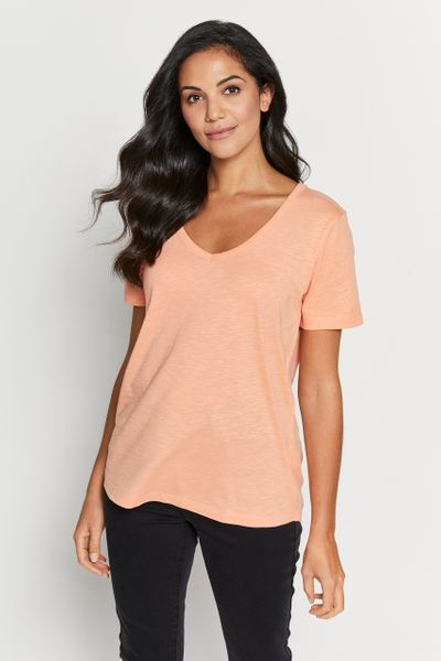 Coral Loose Fit Top