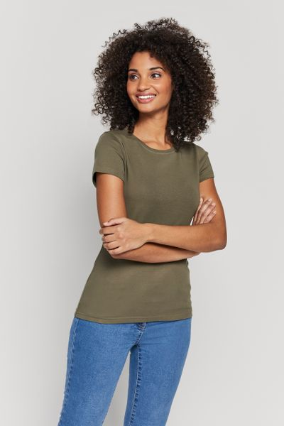 Khaki Fitted Top