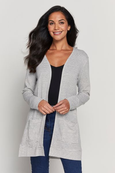 Stripe Linen Cardigan