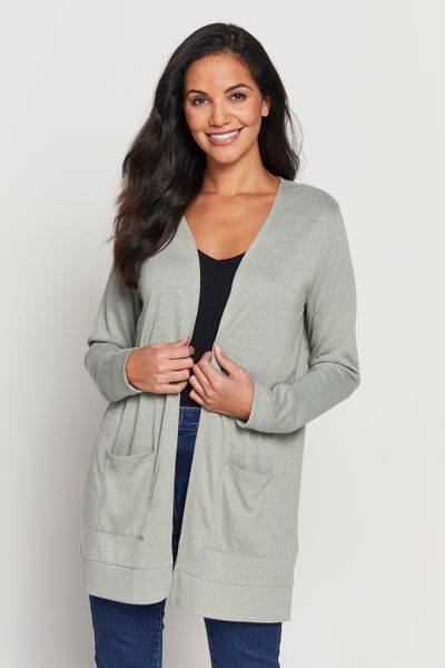 Green Cardigan with Linen