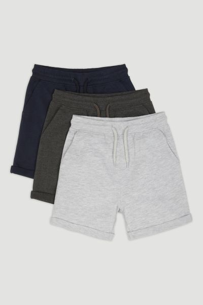 3 Pack Navy Jersey Shorts 1-14yrs