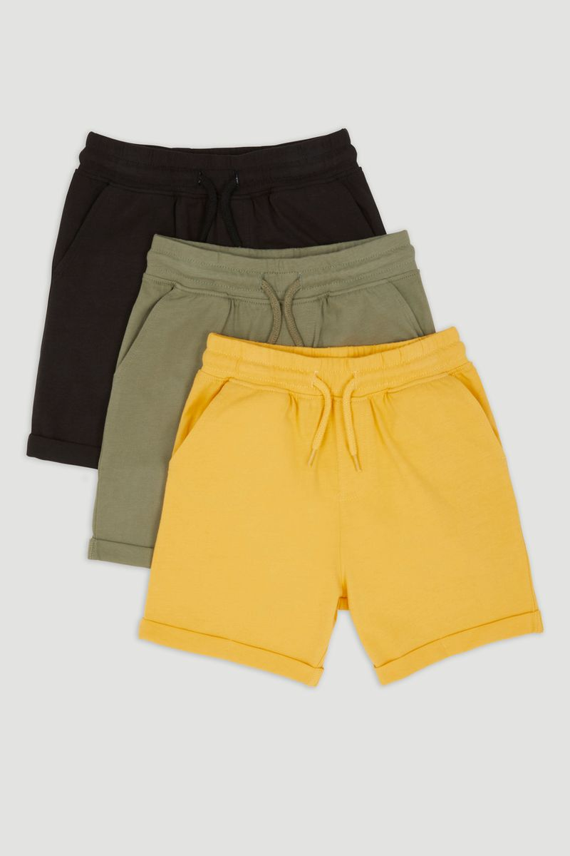 3 Pack Yellow Jersey Shorts
