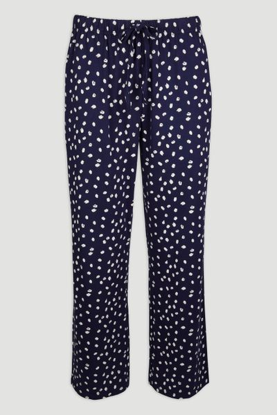 Navy Print Pyjama Bottoms