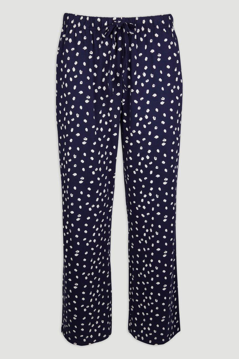 Navy Print Pyjama Bottoms