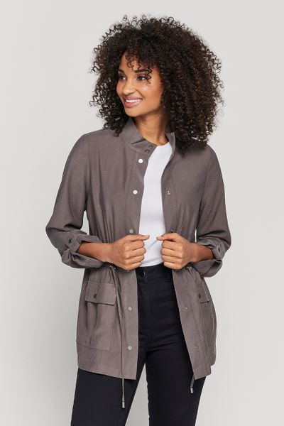 Taupe Lightweight Utility Jacket