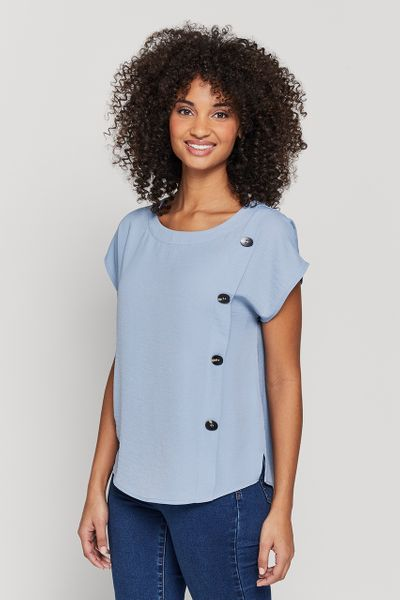 Chambray Button Top