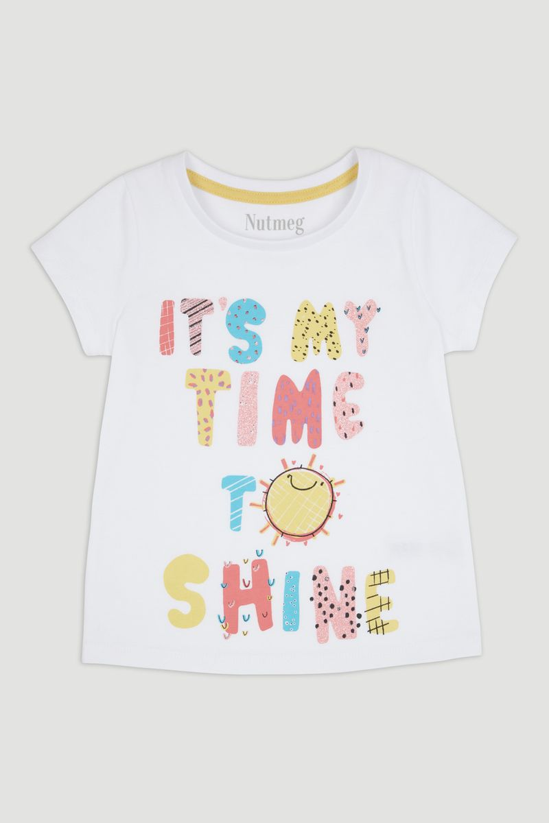 Time to Shine Print T-Shirt