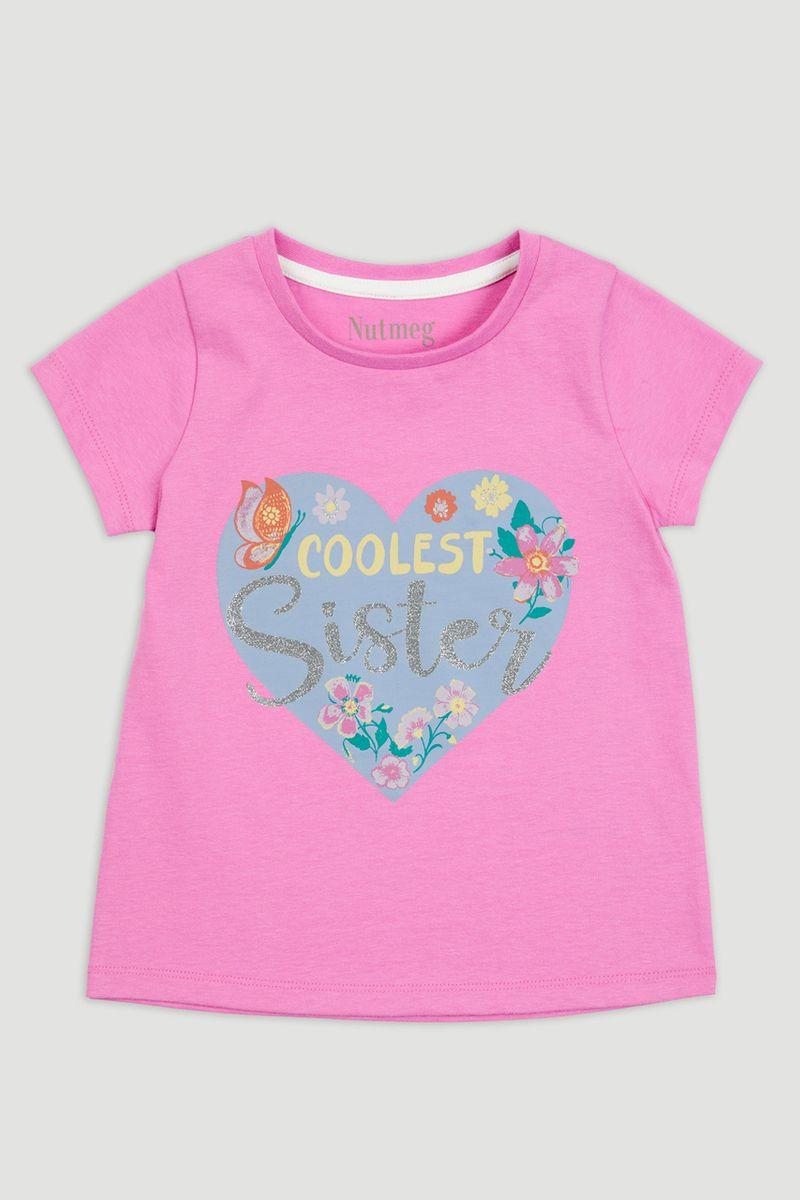 Coolest Sister Slogan T-Shirt
