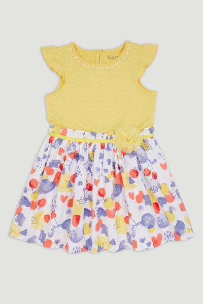 Yellow Floral Dress 1-10yrs