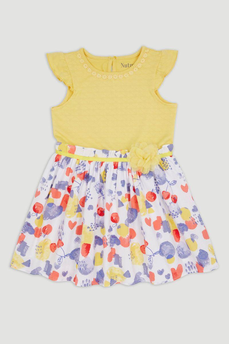 Yellow Floral Dress 1-10yrs