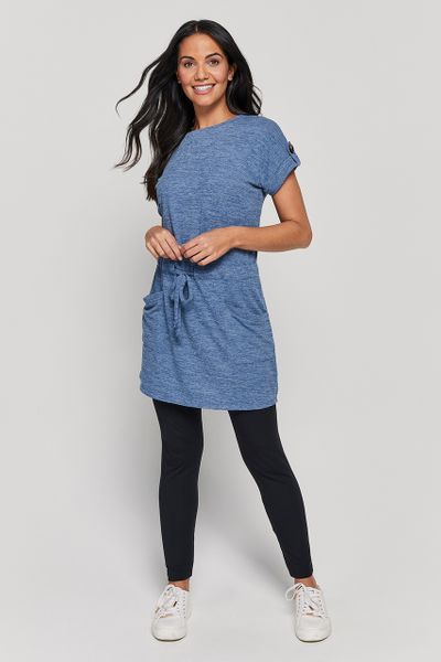 Blue Drawcord Tunic