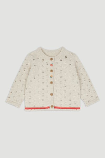 Oatmeal Pointelle Cardigan